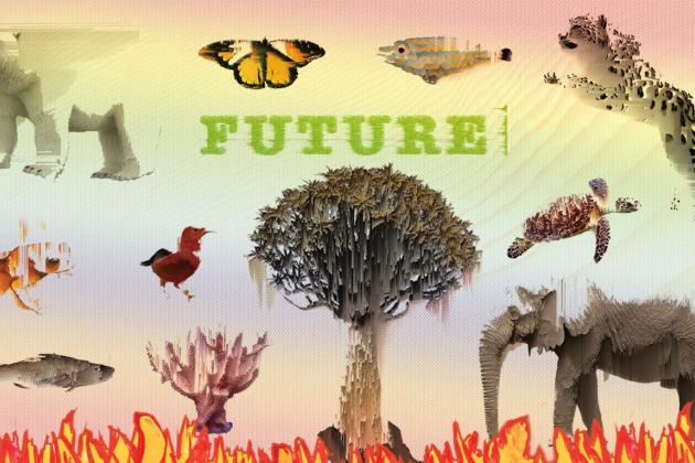 Anthropocene assaults on biodiversity, painting a dismal picture of the future of life, including human life. Illustration by Abhishek Chauhan. All rights reserved.
